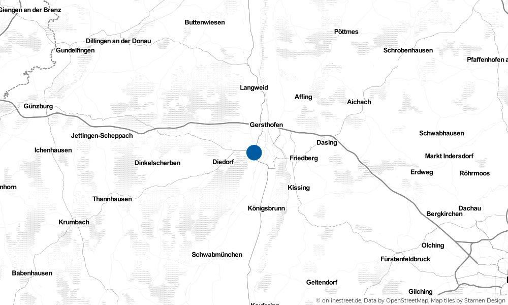 Karte: Wo liegt Stadtbergen?