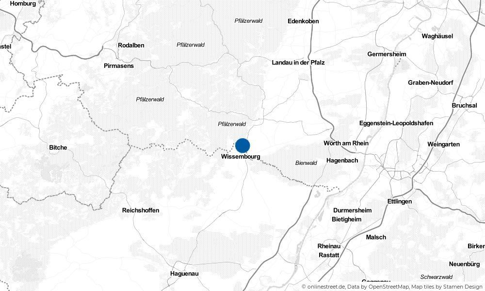 Karte: Wo liegt Schweigen-Rechtenbach?