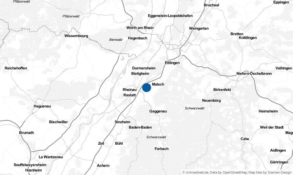 Karte: Wo liegt Muggensturm?