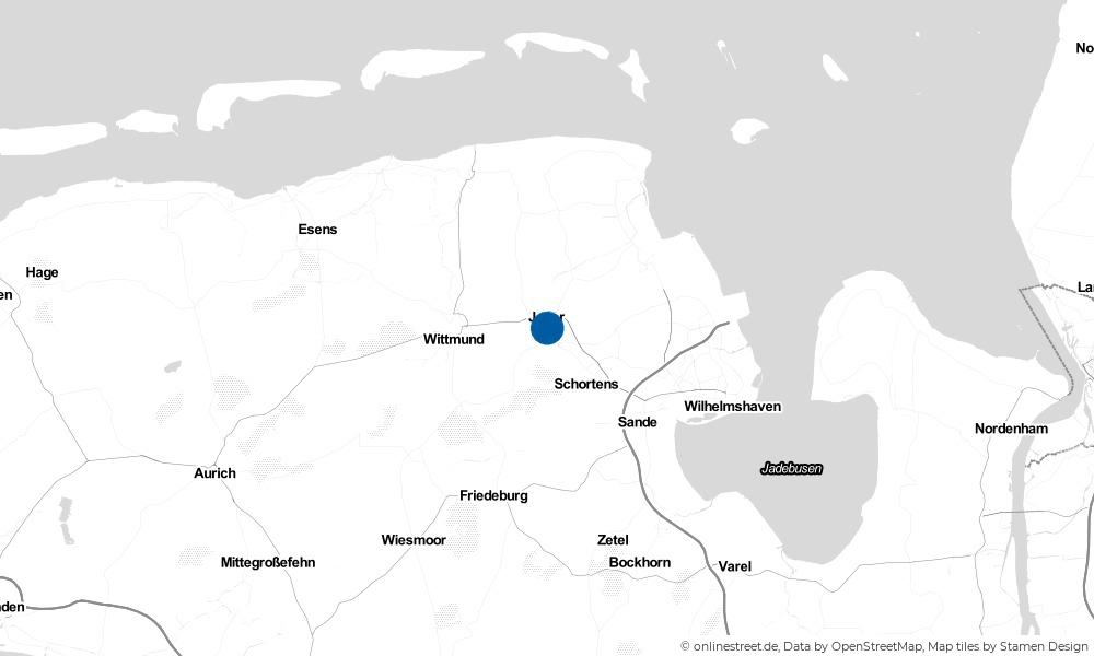 Karte: Wo liegt Jever?
