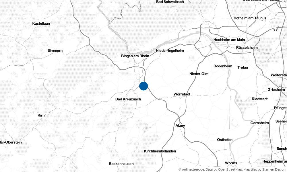 Karte: Wo liegt Biebelsheim?