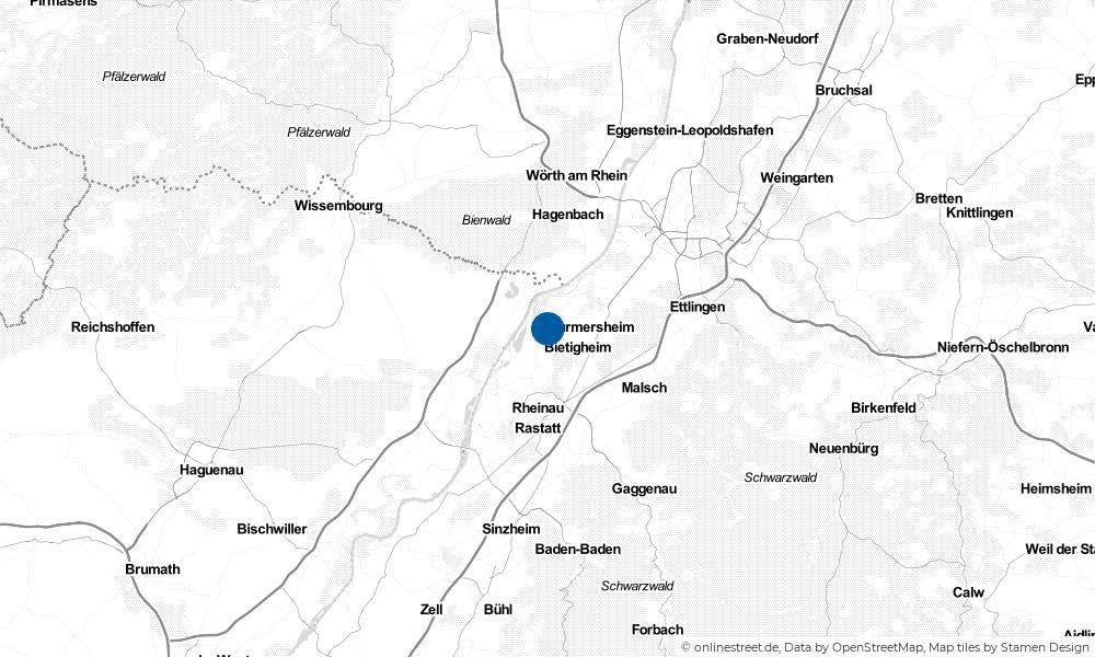 Karte: Wo liegt Elchesheim-Illingen?