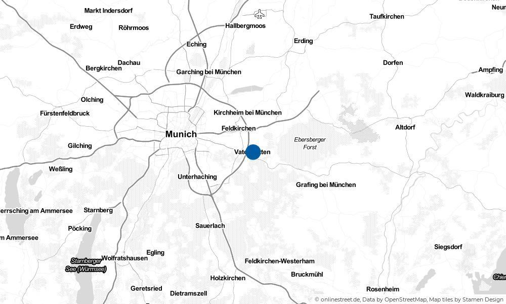 Karte: Wo liegt Vaterstetten?