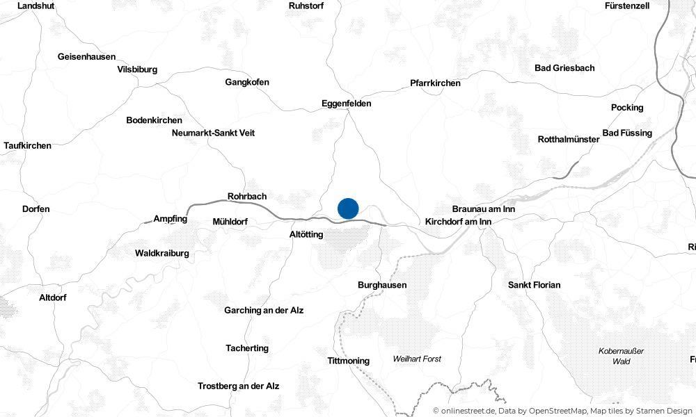 Karte: Wo liegt Perach?