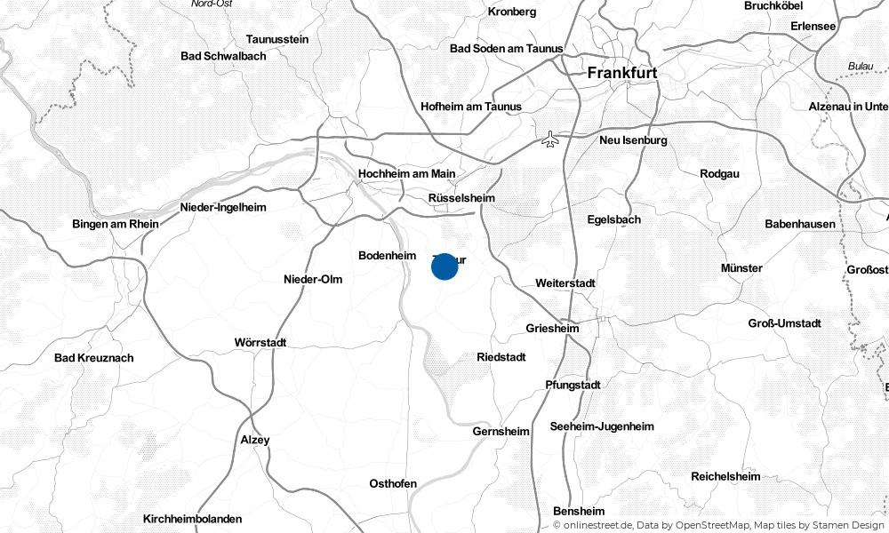 Karte: Wo liegt Trebur?