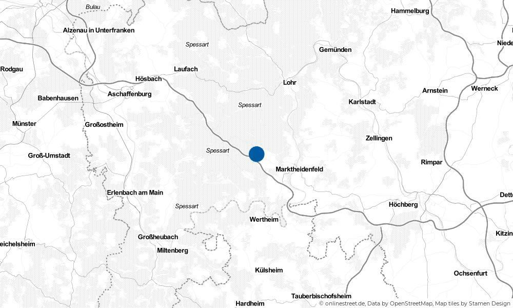 Karte: Wo liegt Bischbrunn?