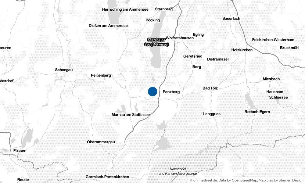 Karte: Wo liegt Antdorf?