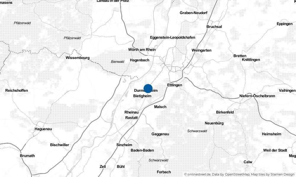 Karte: Wo liegt Durmersheim?