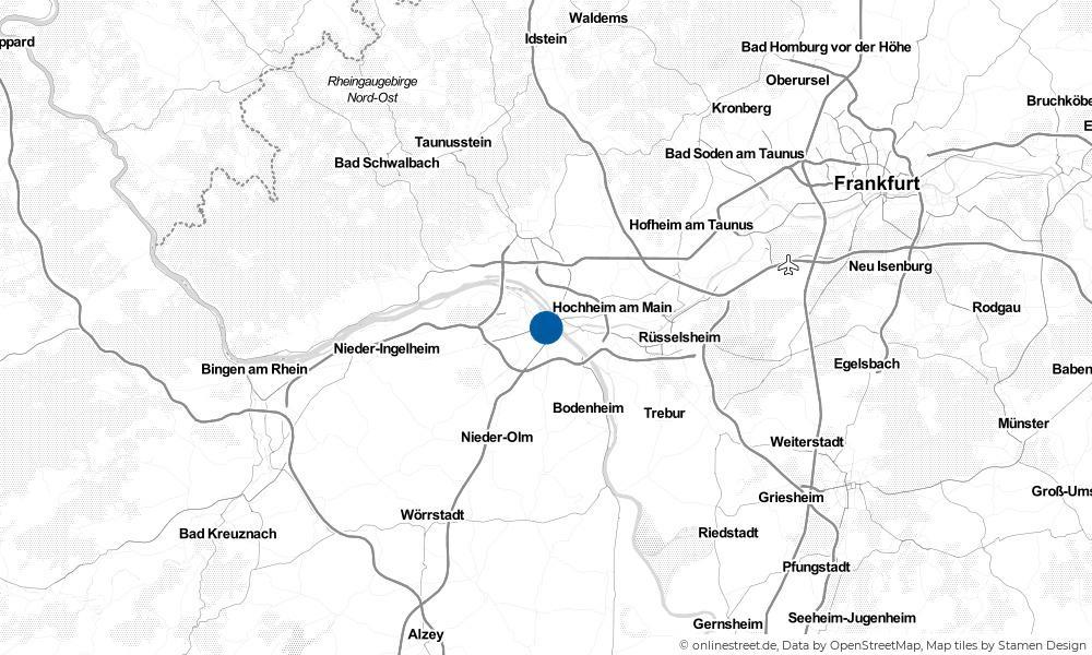 Karte: Wo liegt Mainz?