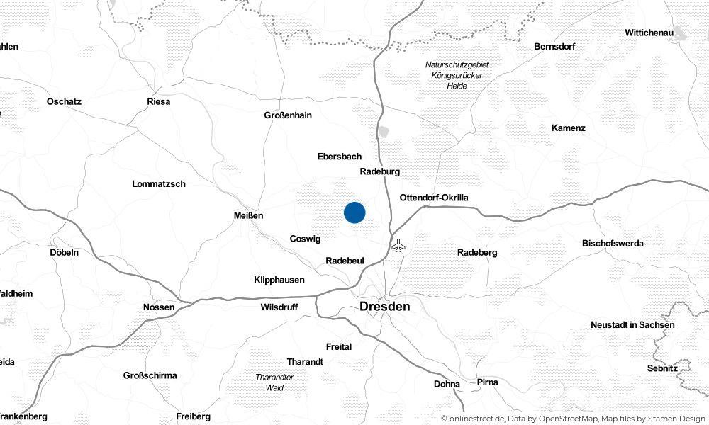 Karte: Wo liegt Moritzburg?