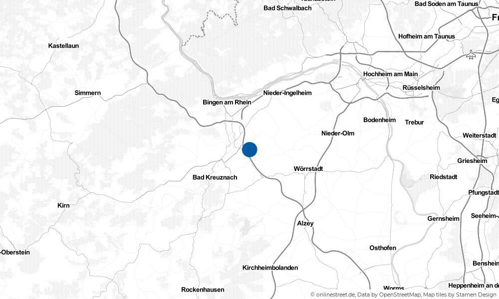 Karte: Wo liegt Welgesheim?