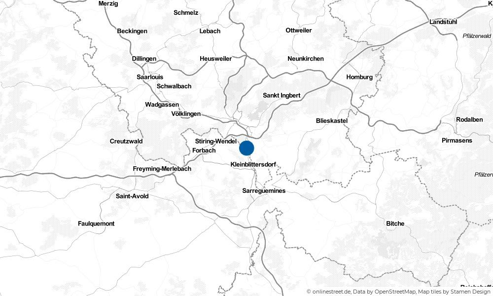 Karte: Wo liegt Alsting?