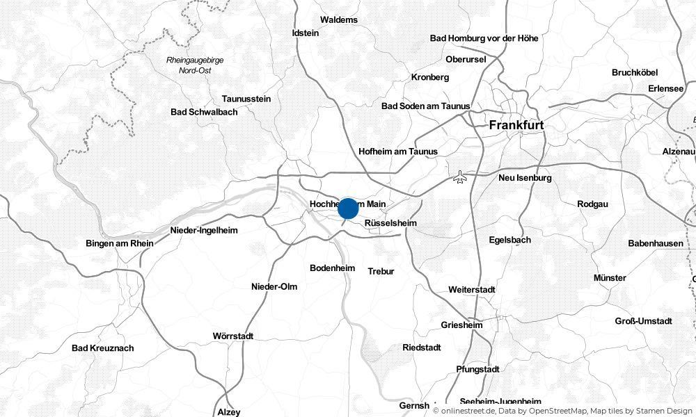 Karte: Wo liegt Hochheim am Main?