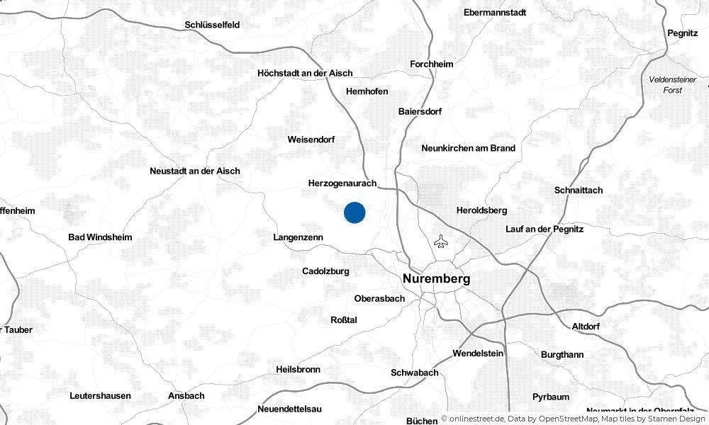 Karte: Wo liegt Obermichelbach?