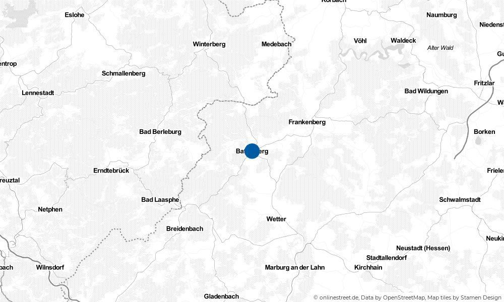 Karte: Wo liegt Battenberg (Eder)?