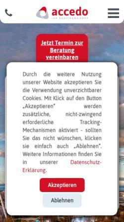 Vorschau der mobilen Webseite www.accedo.de, Accedo AG