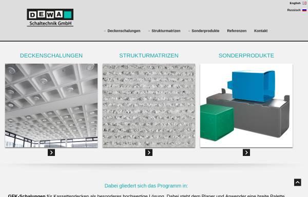 Vorschau von www.dewa-schaltechnik.de, DeWa-Schaltechnik GmbH