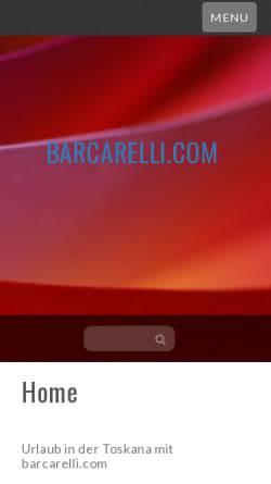 Vorschau der mobilen Webseite www.barcarelli.com, Barcarelli