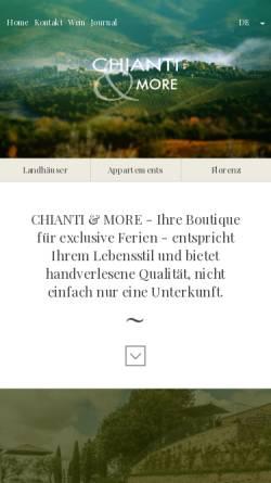 Vorschau der mobilen Webseite www.chianti-and-more.com, Chianti & More