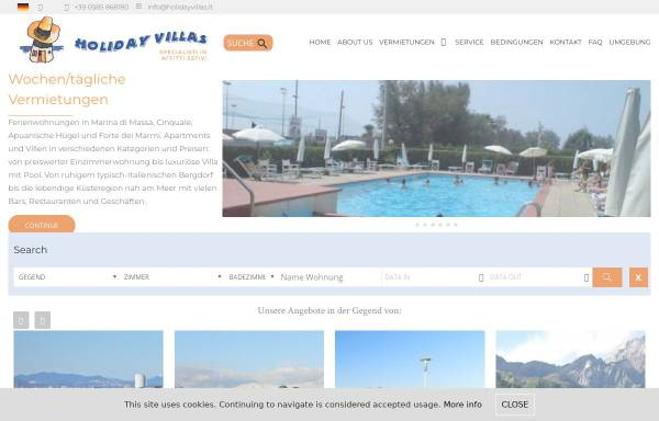 Vorschau von www.holidayvillas.it, Holiday Villas