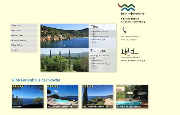 Vorschau von www.elba-toscana.de, IMM Reiseservice