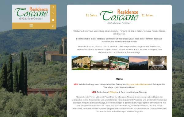 Vorschau von www.residenzetoscane.com, Residenze Toscane e.K.