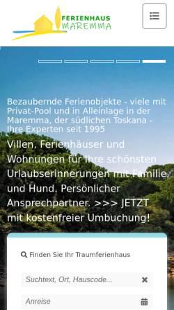 Vorschau der mobilen Webseite www.ferienhaus-maremma.com, Ferienhaus-Maremma