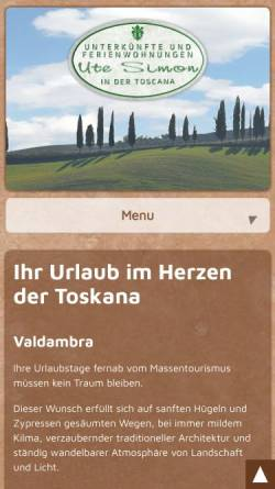 Vorschau der mobilen Webseite www.valdambra.com, Valdambra - Ute Simon