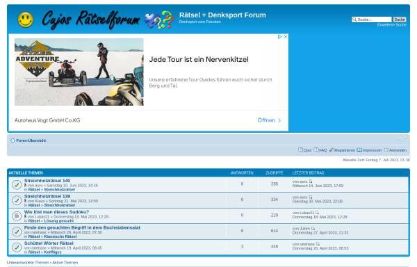Vorschau von www.raetsel-forum.net, Rätsel-Forum