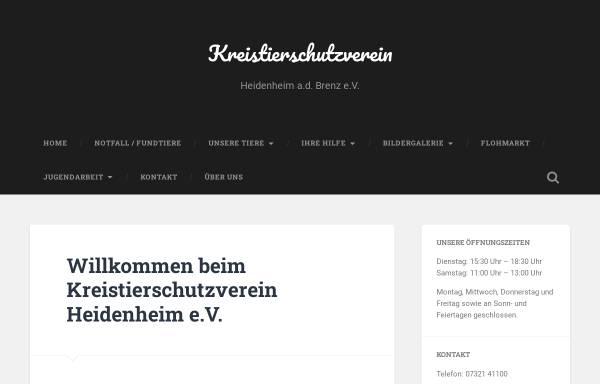 Vorschau von www.kreistierschutzverein.de, Kreistierschutzverein Heidenheim an der Brenz e.V.