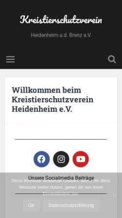 Vorschau der mobilen Webseite www.kreistierschutzverein.de, Kreistierschutzverein Heidenheim an der Brenz e.V.