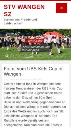 Vorschau der mobilen Webseite www.stv-wangensz.ch, STV Wangen SZ