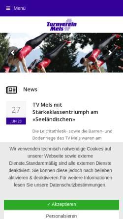Vorschau der mobilen Webseite www.tvmels.ch, TV Mels