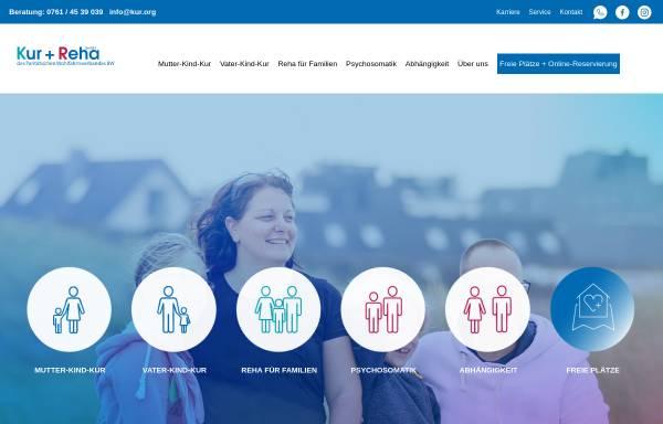 Vorschau von www.kur.org, Mutter-Kind-Kuren - Infos zu Antragstellung und Kliniken