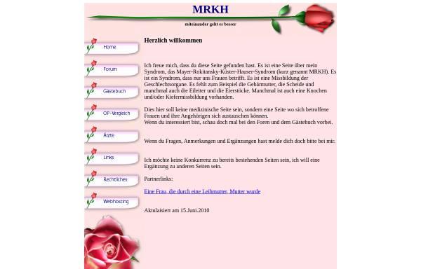 Vorschau von www.mrkh-betroffene.ch, MRKH