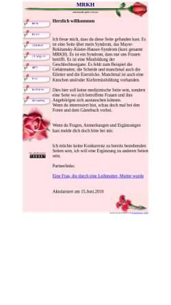 Vorschau der mobilen Webseite www.mrkh-betroffene.ch, MRKH