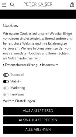 Vorschau der mobilen Webseite www.peter-kaiser.de, Peter Kaiser GmbH