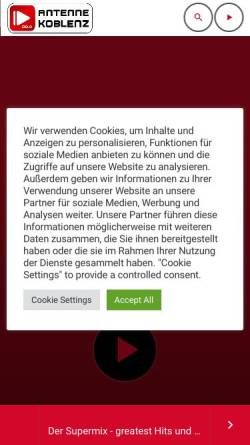 Vorschau der mobilen Webseite antenne-koblenz.de, Antenne Koblenz