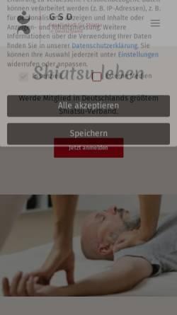 Vorschau der mobilen Webseite www.shiatsu-gsd.de, GSD - Gesellschaft für Shiatsu in Deutschland