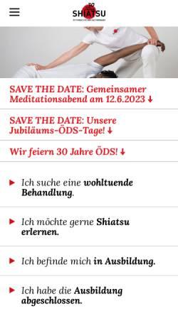 Vorschau der mobilen Webseite oeds.at, ÖDS - Österreichischer Dachverband für Shiatsu