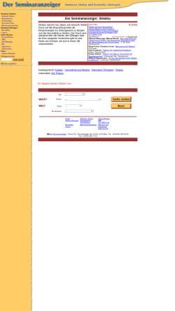Vorschau der mobilen Webseite www.seminaranzeiger.de, Der Seminaranzeiger