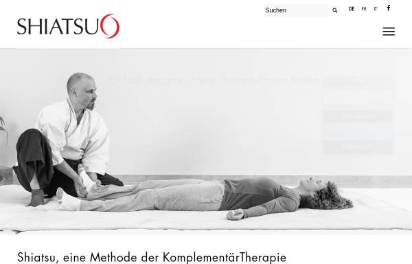 Vorschau von www.shiatsuverband.ch, SGS - Shiatsu Gesellschaft Schweiz