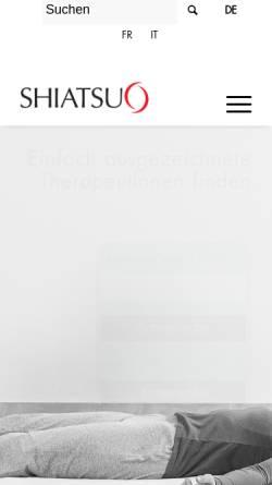 Vorschau der mobilen Webseite www.shiatsuverband.ch, SGS - Shiatsu Gesellschaft Schweiz