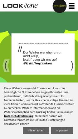 Vorschau der mobilen Webseite www.look-one.de, LOOK//one GmbH