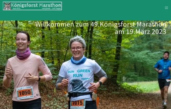 Vorschau von koenigsforst-marathon.de, Königsforst-Marathon