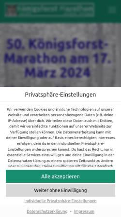 Vorschau der mobilen Webseite koenigsforst-marathon.de, Königsforst-Marathon