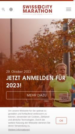 Vorschau der mobilen Webseite www.lucernemarathon.ch, Lucerne Marathon