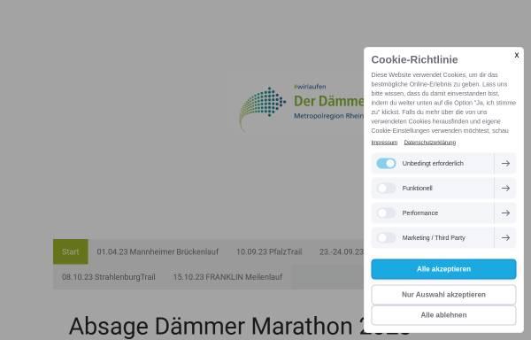 Vorschau von www.marathonmannheim.de, Mlp Marathon Mannheim Rhein-Neckar