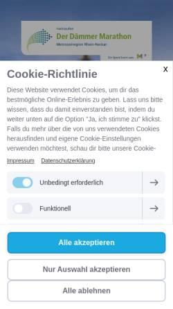 Vorschau der mobilen Webseite www.marathonmannheim.de, Mlp Marathon Mannheim Rhein-Neckar