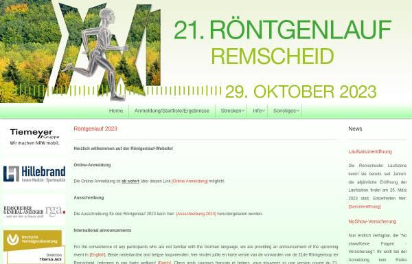 Vorschau von www.roentgenlauf.de, Remscheider Röntgenlauf